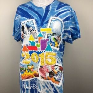 Disney Parks Blue Tie Die T-Shirt 2015